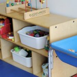 toys neatly arranged in daycare